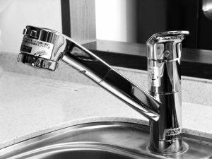 台付きツーホール水栓